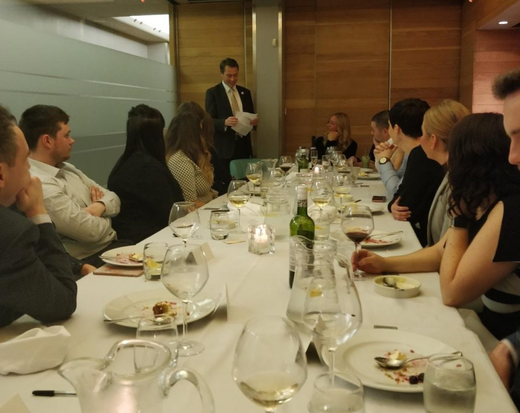 recruitment academy awards lunch with tom lovell and roger mason