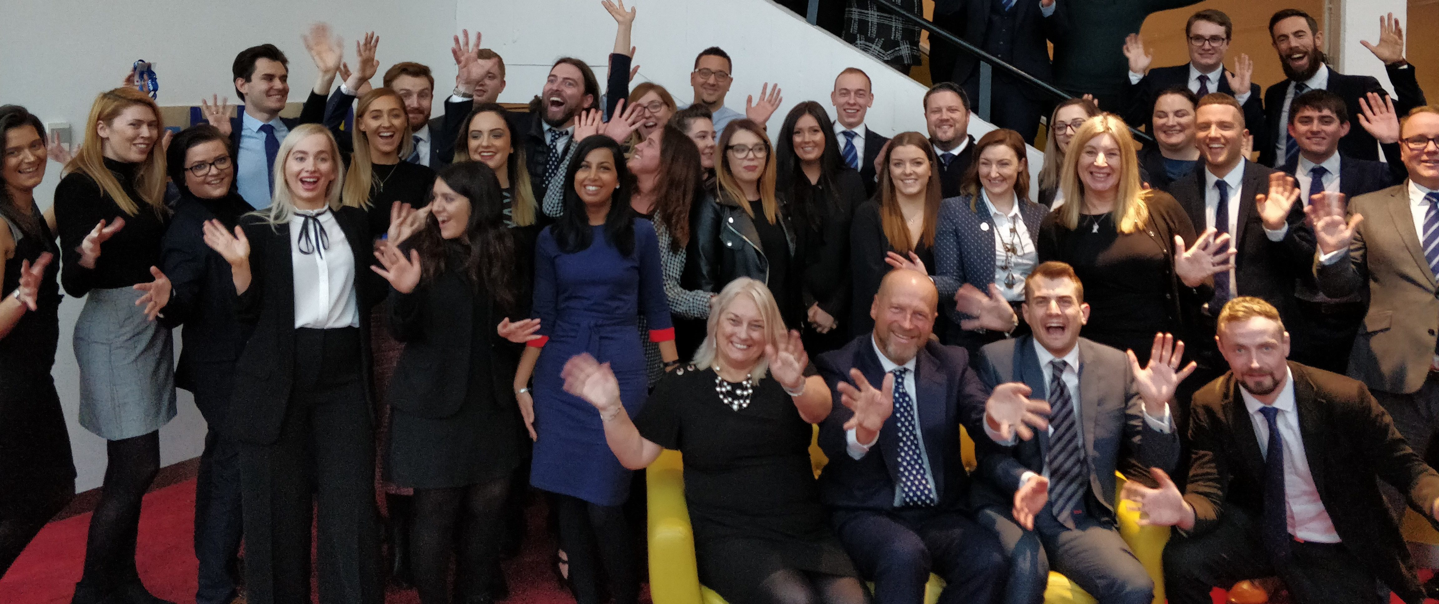 apprenticeship event - group photo with james reed and christine holland