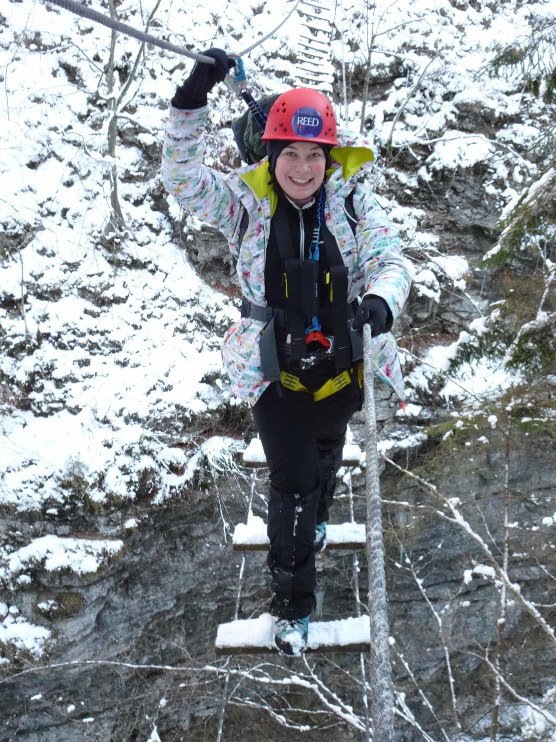 Alpine Leadership Challenge rope bridge