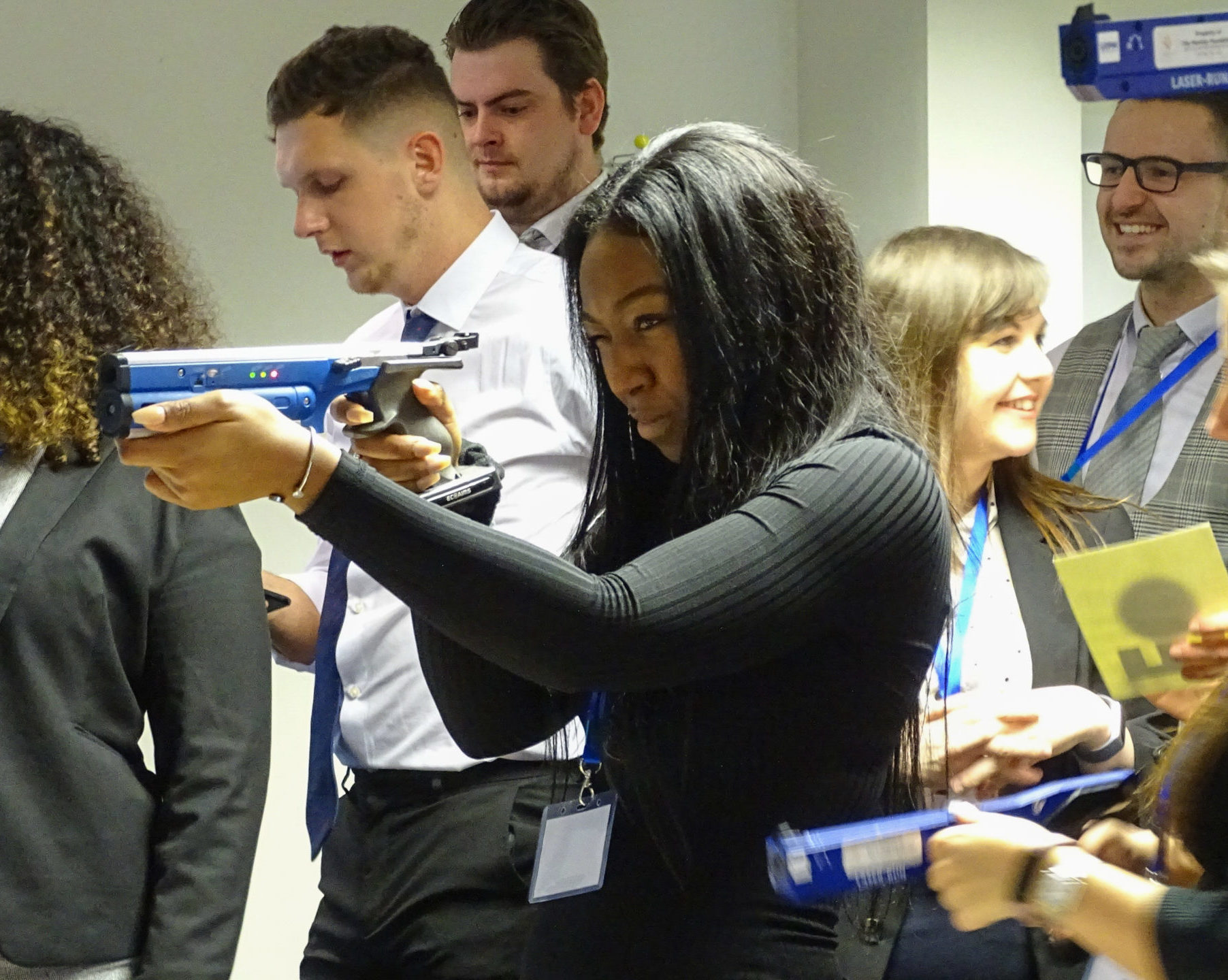 Take off 2020 gun girl at apprenticeship event