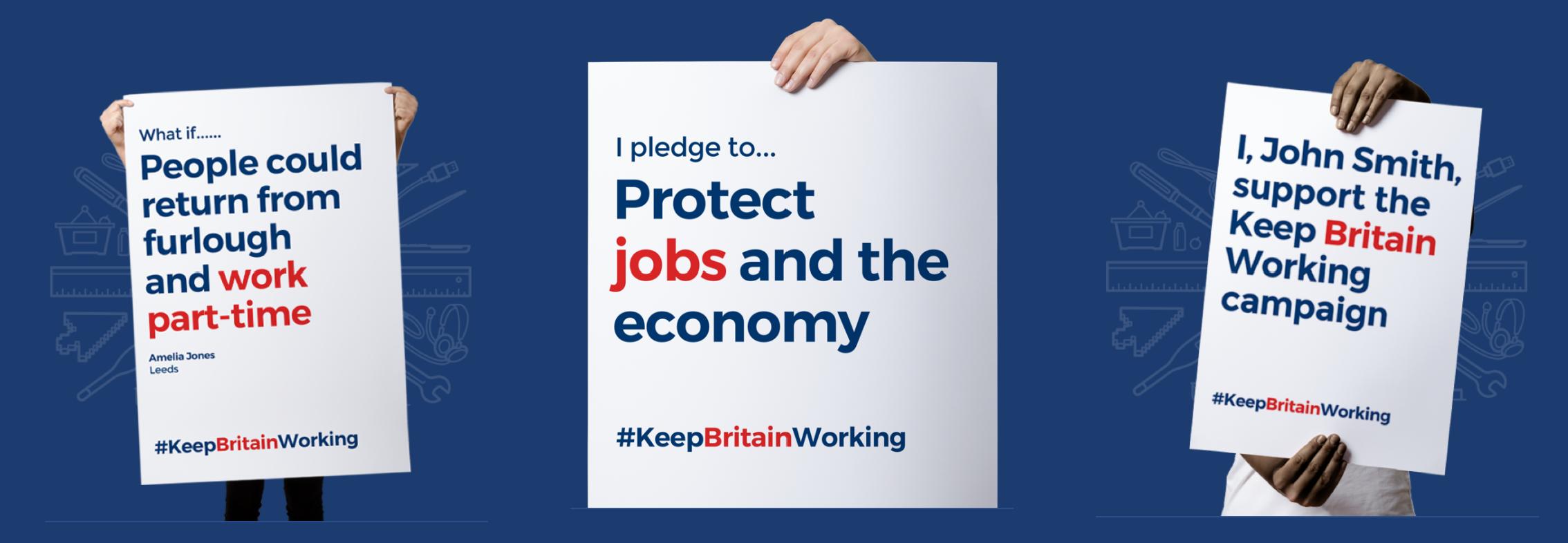 keep britain working - support pledges