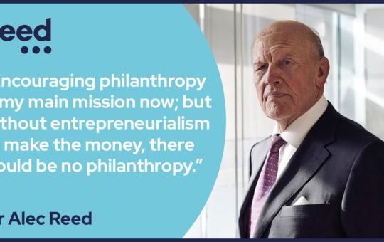Sir Alec Reed philanthropist