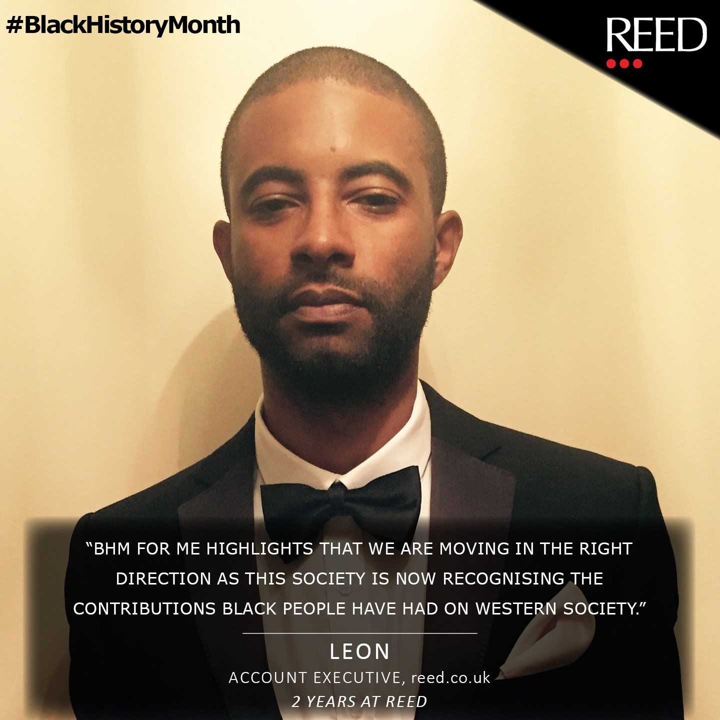what black history month means to me - Leon Wright - Account Executive at reed.co.uk