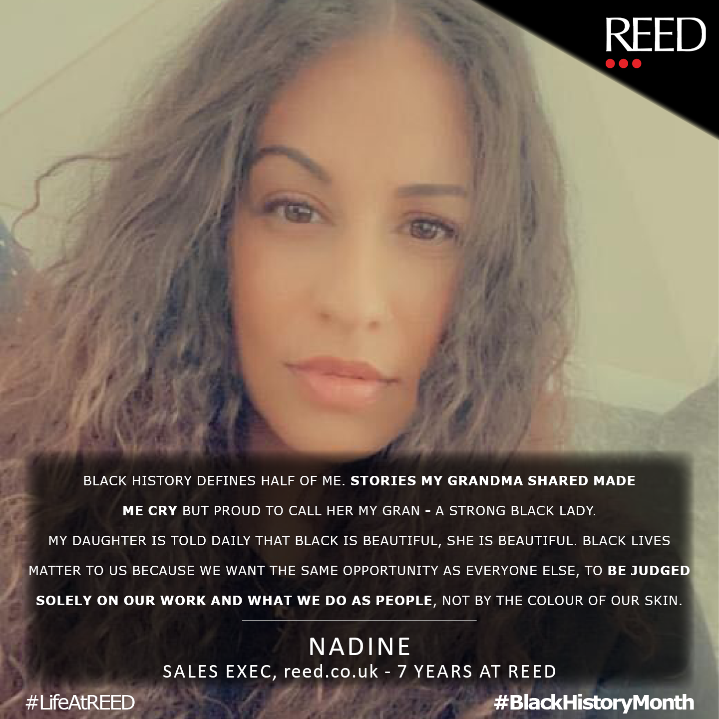 Nadine Seaman - what black history month means to me