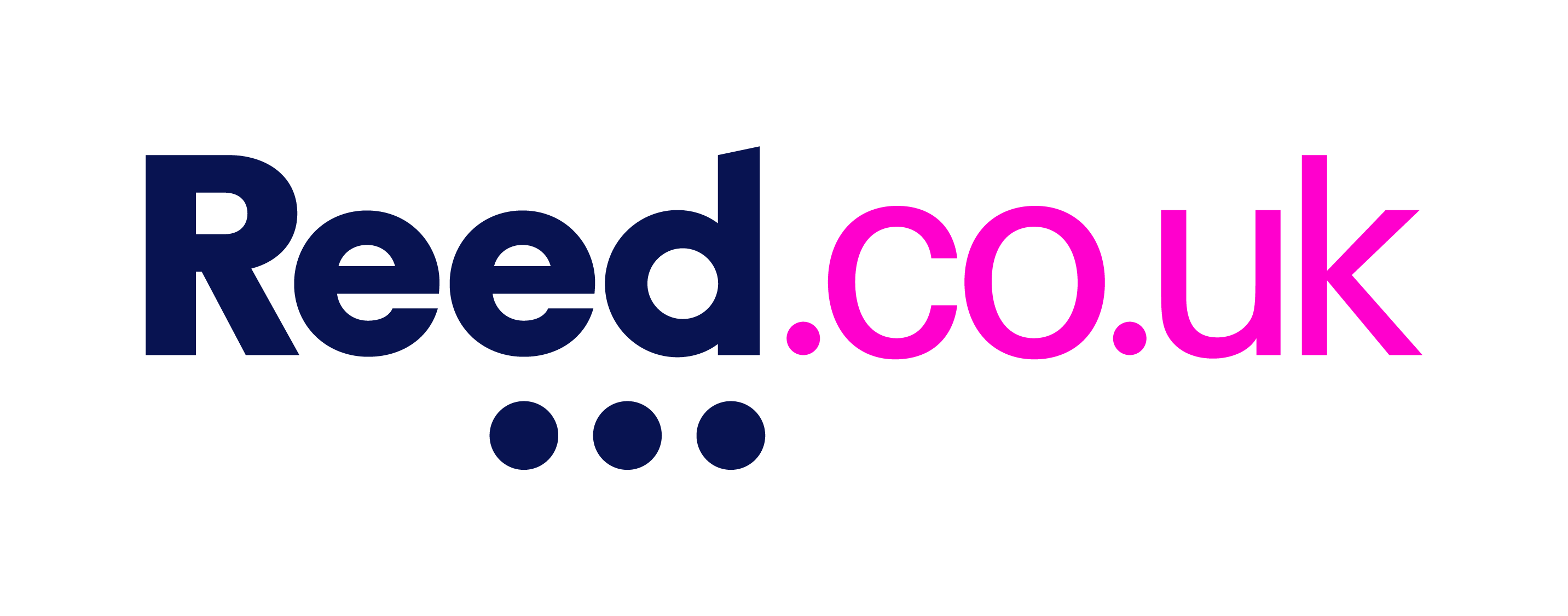 reed.co.uk logo blue and pink transparent