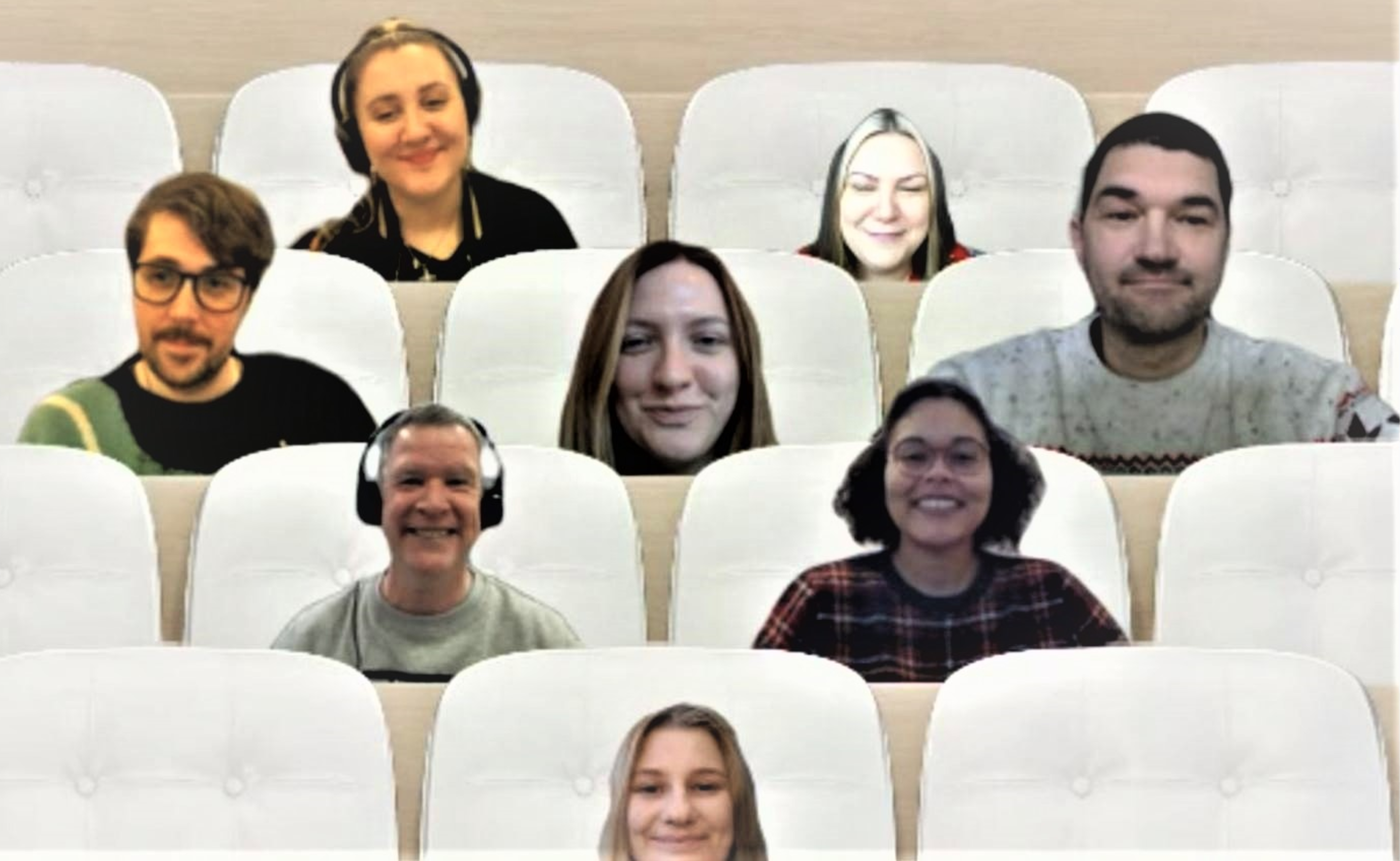 Talent Engagement Team on a teams chat online in December 2020