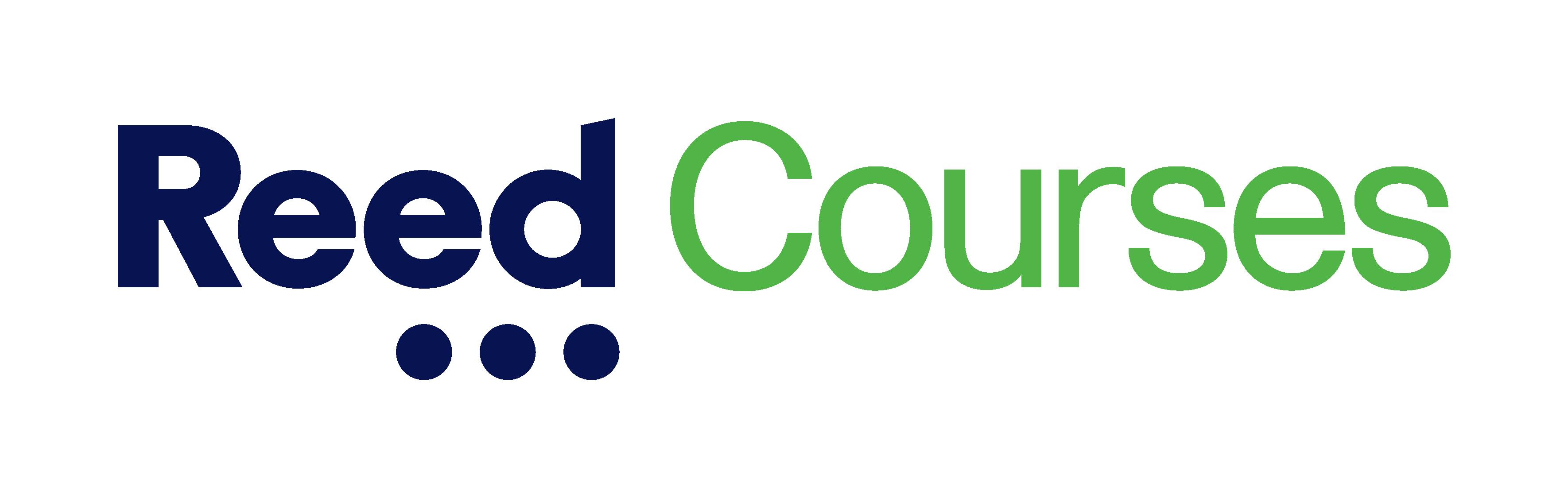 Reed Courses logo - blue and green horizontal logo