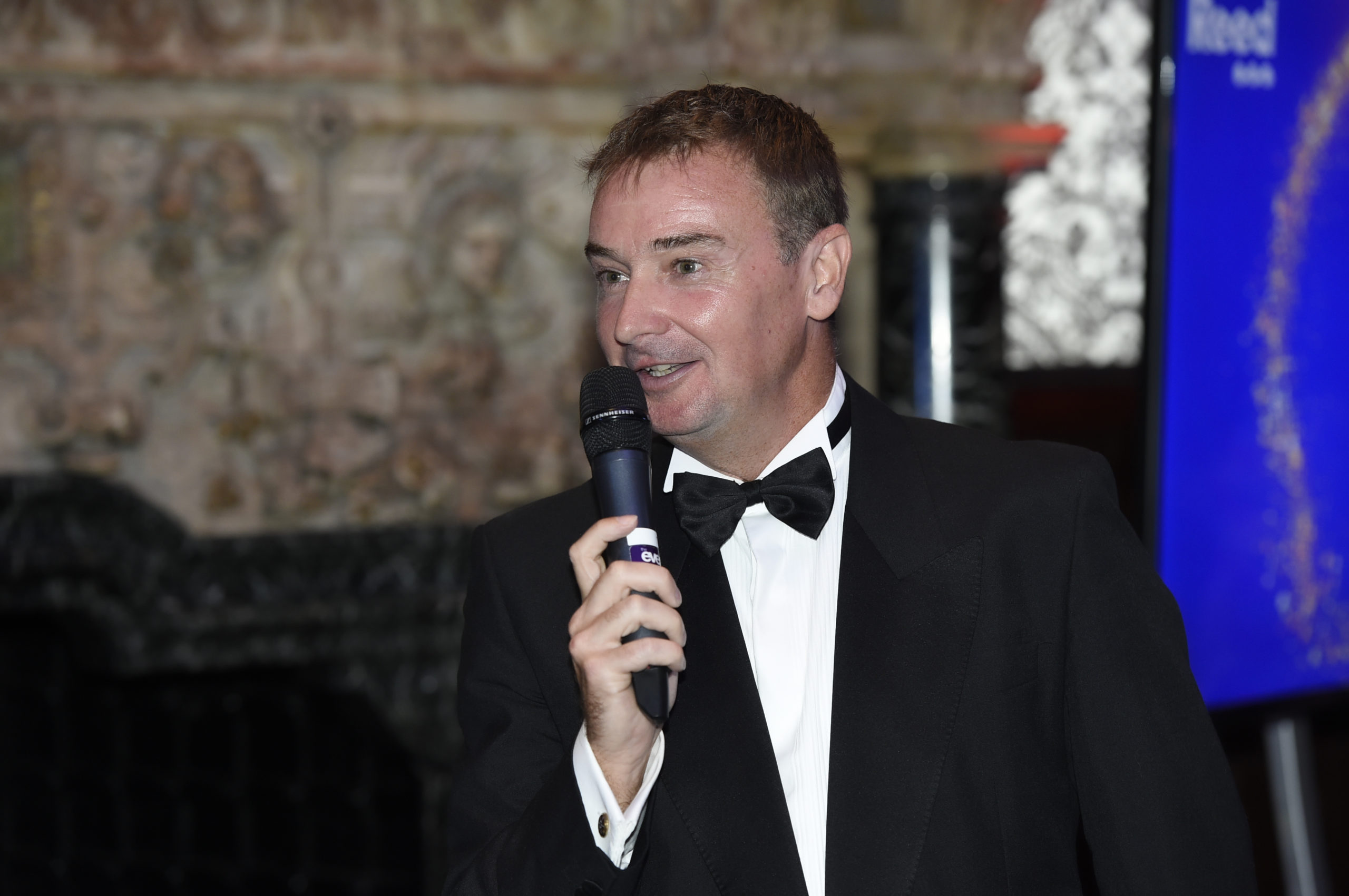 HA2021 High Achievers Ian Nicholas giving speech at the awards evening at Crewe Hall